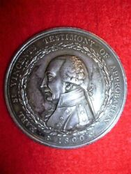 Royal Naval Mutiny Medal Earl St. Vincentand039s Testimony Of Approbation 1800 Medal