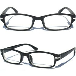 NEARSIGHTED READING GLASSES FOR DISTANCE MYOPIA Matte Black NEGATIVE POWER $7.95