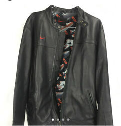 Rare Nike Air Max 360 Sneakers Cafe Racer Leather Motorcycle Jacket Size Xxl