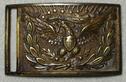 Civil War Relic 1851 Pattern U. S. Officer's Belt Buckle, Non-dug And Beautiful
