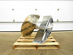 Mo-3336 New 40 Stainless Elephant Ear Mixing Impeller. 316 Ss. 3 Hole.