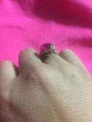 Vintage Unique Family Heirloom Garnet Stone Gold Ring 45Yrs Read Story See Pics