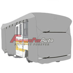 Waterproof Travel Trailer Rv Cover For Trailer Camper 33and039-35and039 W/ Zipper
