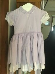 GIRL'S DRESS FROM 1950'S~ LAVENDER & WHITE  ~ SIZE 10 SEARS