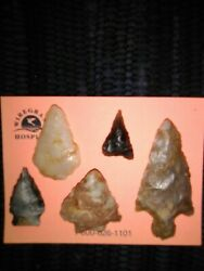 Authentic Native American Arrowheads Lot Of 5 Found In Southwest Alabama