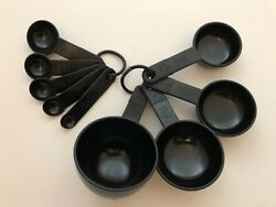 New Kitchenaid Black Epicure Gourmet Gadget - Set Of 9 Measuring Cups And Spoons
