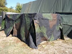 Military Truck Trailer Tent 5 Ton Camo Cover 8x14.5x4 Mtv M1083 Us Army--damaged
