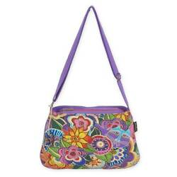 Laurel Burch Medium Crossbody 10quot;X14.5quot; Carlotta#x27;s Garden LB5573 $27.71