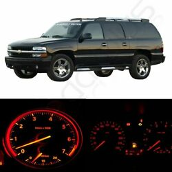 Cluster Gauge red Bulbs +Climate Control LED Kit For 2002-2006 Dodge Ram 1500