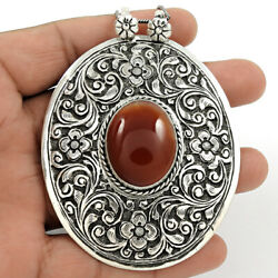 Halloween Sale!! Natural ONYX HANDMADE Jewelry 925 Silver Ethnic Pendant DD20