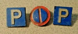 3 Count Lot Of Ww2 German Tinnie Pin World War Two Badge Tag
