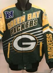 Green Bay Packers Nfl Jacket By G - 111 Adult Medium Free Ship
