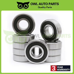 10pcs 6305-2rs Double Rubber Deep Groove Ball Bearings Abec3 25x62x17mm 6305 Rs