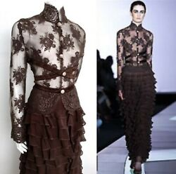 Valentino Long Evening Dress ( skirt - blouse ) FW 2001 US12 - FR44 - IT46