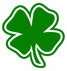 3 FOUR LEAF CLOVER Hard Hat Motorcycle Helmet Stickers Decal Toolbox 2quot;