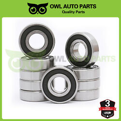 6001-2rs Ball Bearing 12x28x8mm Double Sealed Deep Groove Bearings, Pack Of 10