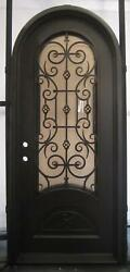 Beautiful Estate Heavy Good R Rated Iron Entry Door With Safety Glass - S39