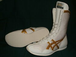 Authentic Asics Boxing Shoes Long Type White Andtimes White Andtimes Gold From Japan Bto F/s