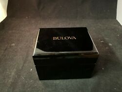 Authentic Bulova Precisionist Black silicone Stainless Steel strap Watch 98B319