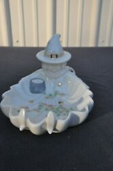 Lenox Occasions Halloween Witch Fall Leaves Ivory Porcelain Candy Dish Bowl