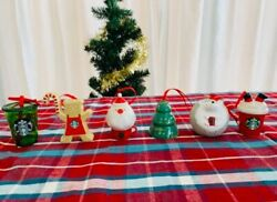 Starbucks Japan Coffee 2019 6 Types Ornament Set Christmas Holiday Limited New