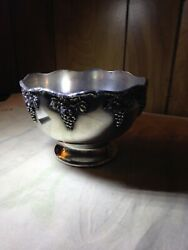 1895 Vintage Wm A Rogers 61751/2 Scalloped Footed Sterling Silver Ep Lead Mounts