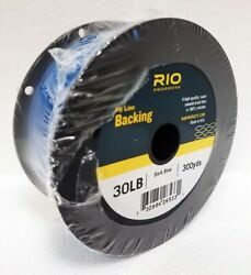 Rio 30 Lb 300 Yard Spool Of Dacron Backing In Dark Blue Fly Line And Reel Backing