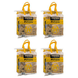 Western Bbq Pinon Log Wood Pellet Firewood For Camp Fires And Fireplaces 4 Pack