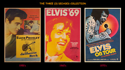 ELVIS PRESLEY ☆ THE BEST OF 3-DECADES COLLECTION ☆ 40x60 MOVIE POSTER DISPLAYS!!