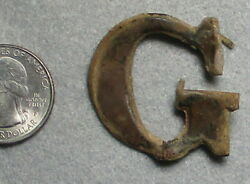 Civil War Relic Cartridge Box Very Large Lead-filled G. W 2 Attachment Hook