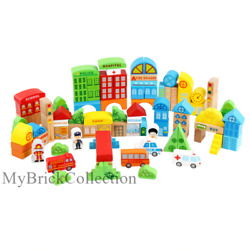 Wood Intellectual Building Toys Blocks Child Play Game Gift 100pcs/set Colourful