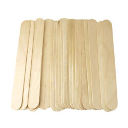 Wooden Craft Popsicle Sticks Natural 7-3/4-inch 25-count