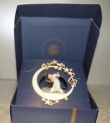 Angel With Lyra On The Moon And Stars - 08000 - L , Wood Figurines Lepi, Italy