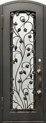 Beautiful Estate Heavy Good R Rated Iron Entry Door With Safety Glass - S3