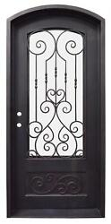 Beautiful Estate Heavy Good R Rated Iron Entry Door With Safety Glass - S2