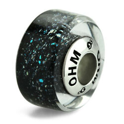 GLASS BEAD AUTHENTIC OHM BEADS  Galaxy AMG522 EUROPEAN SILVER 925