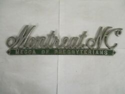1930s Montreat North Carolina Scripted Topper License Plate Tag