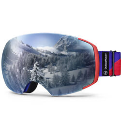 Outdoormaster Ski Goggles Pro Frameless Interchangeable Lens Snow Goggles Uv400