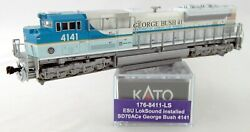 N Scale Emd Sd70ace W/dcc And Sound - Up George Bush 4141 - Kato 176-8411-ls