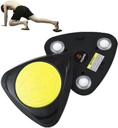 Exercise Sliders Two Core Coaster Equipment AB Fitness Trainer with Knee Pad