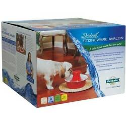 PetSafe Drinkwell Avalon Ceramic Dog and Cat Water Fountain Red 7