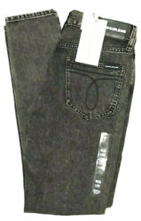 Calvin Klein CKJ 021 Womens Sizes 25-31 Mid Rise Slim Fit Charcoal Black Jeans $11.48