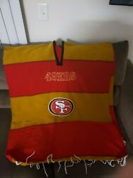 San Francisco 49ers Red Light Brown Poncho Sweater One Size Fits All Logoandnbsp