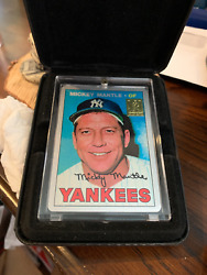 1967 Topps Mantle Keeper Series Counterproof The Finder 2/50 Metal - Awesome