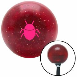 Pink Bug Red Metal Flake Shift Knob W/ M16x1.5 Insert Shifter Auto Manual Brody