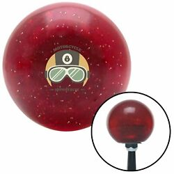 Motorcycle Speedracer Red Metal Flake Shift Knob W/ M16x1.5 Insert Shifter Brody