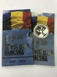 25 Years Of Revolution In Romania, Medal Silver, Proof