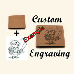 Custom Laser Engraved Men's Wallet Just tell me what you want! Gift for Him