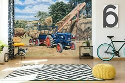 3d Tractor Straw A10 Wallpaper Wall Mural Self-adhesive Trevor Mitchell Zoe