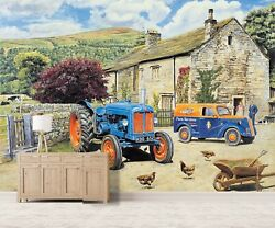 3d Tractor Chick A62 Wallpaper Wall Mural Self-adhesive Trevor Mitchell Zoe